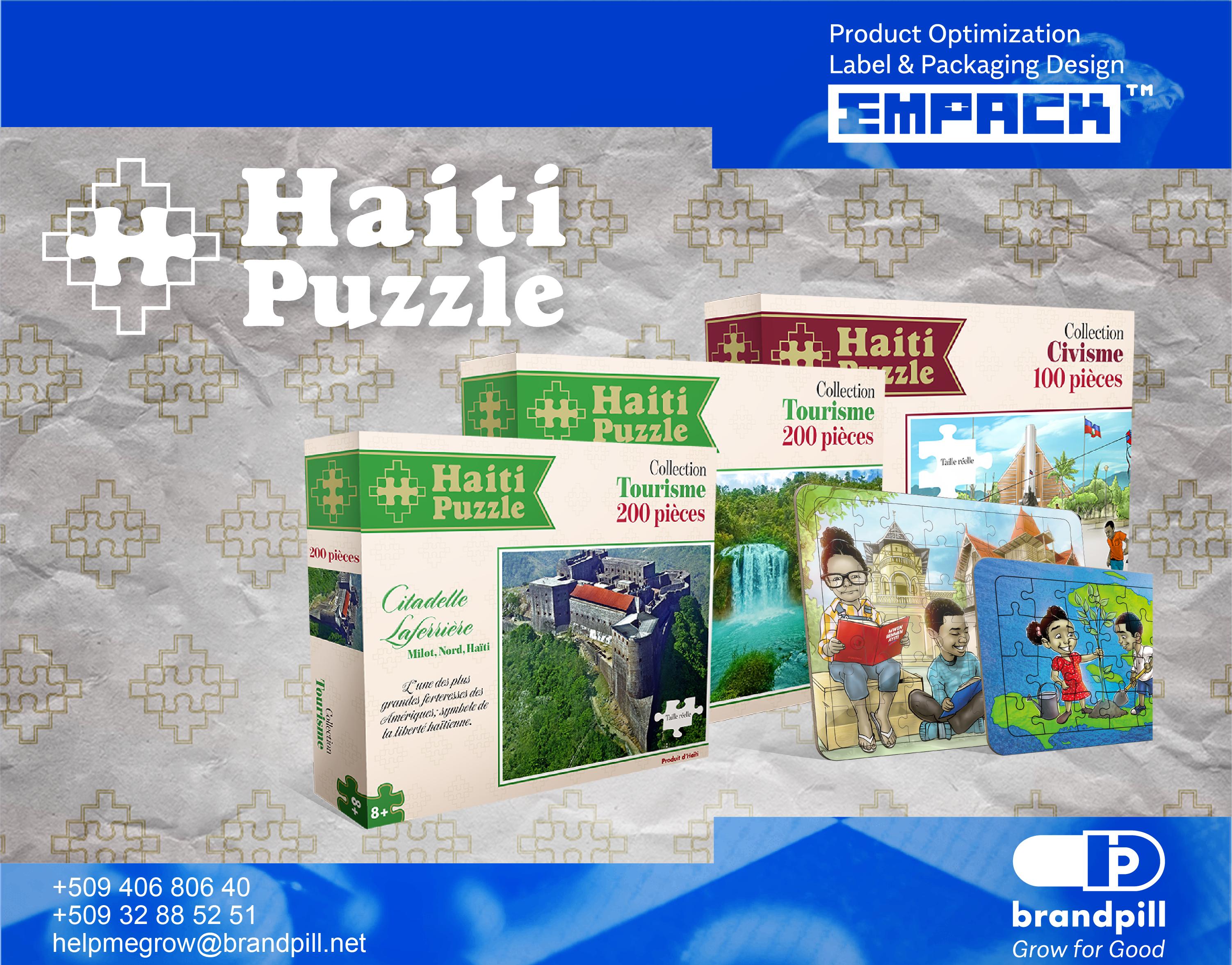 Haiti Puzzle Branding by brandpill